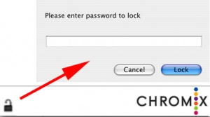 Clicking the lock icon opens up the lock password dialog