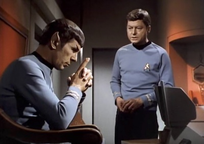 "Spock is ""assigned"" the role of captain."